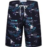 APTRO Men's Swim Shorts Quick Dry Swim Trunks Palm Tree Bathing Suit with Mesh Lining