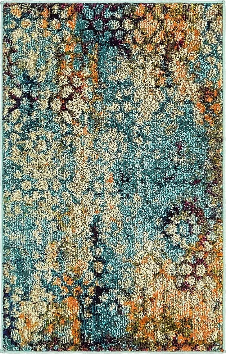 Unique Loom Vita Collection Traditional Over-Dyed Vintage Blue Area Rug 2 2 x 3 0