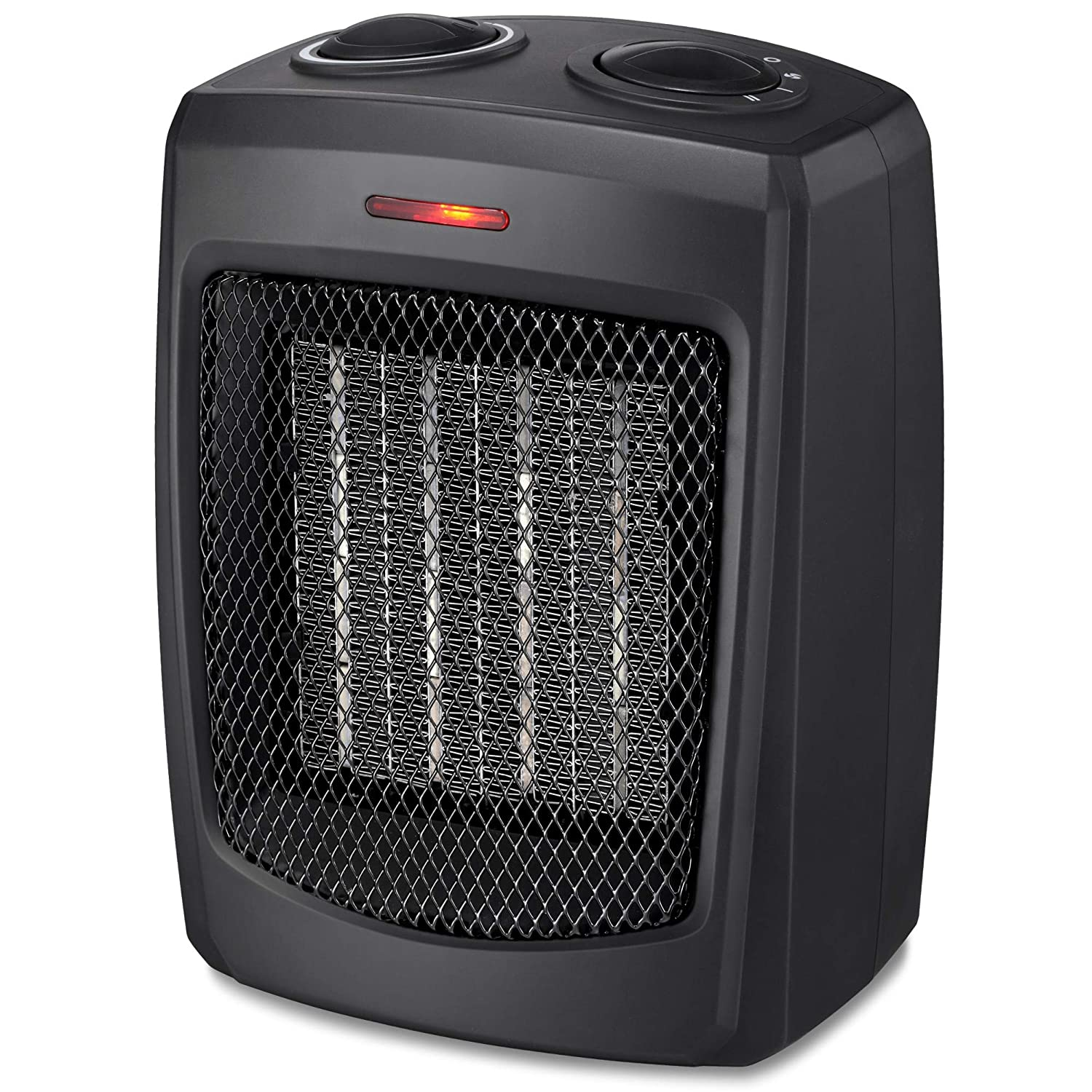 HOME_CHOICE Personal Ceramic Space Heater Electric Heater with Adjustable Thermostat Small Portable Heater Fan for Office Desktop Home Bedroom,750W 1500W