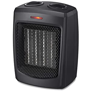 HOME_CHOICE Personal Ceramic Space Heater Quiet Electric Heater with Adjustable Thermostat Small Portable Heater Fan for Office Desktop Home Bedroom,750W/1500W