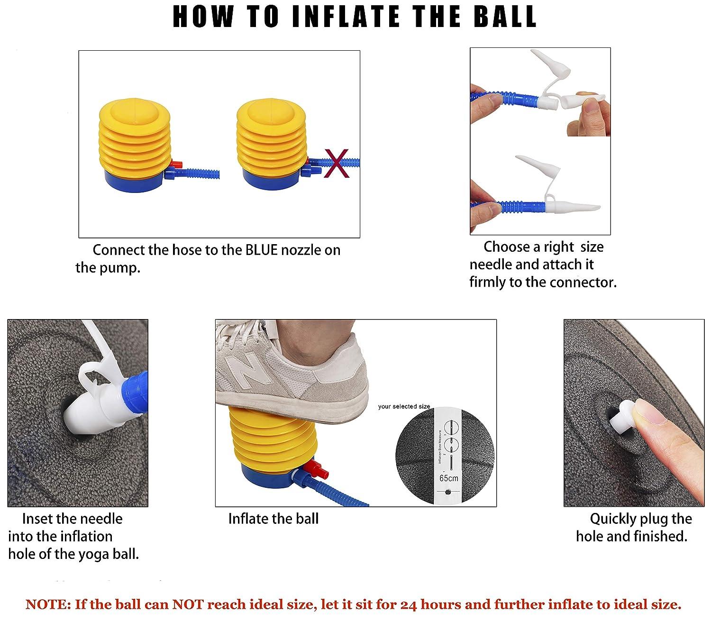 BalanceFrom Anti-Burst und Rutschfester Gymnastikball Yoga-Ball mit Schnellpumpe 2.000 Pfund Kapazit/ät