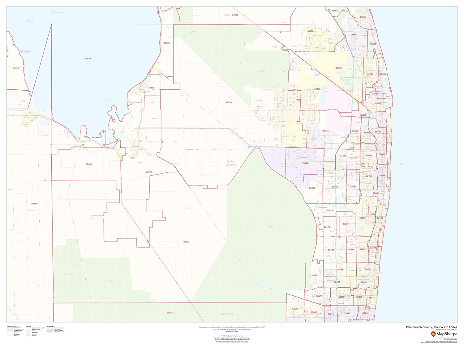 Amazon.com : Palm Beach County, Florida Zip Codes - 48\