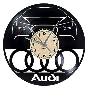 Amazonde Evevo Audi Wanduhr Vinyl Schallplatte Retro Uhr Groß