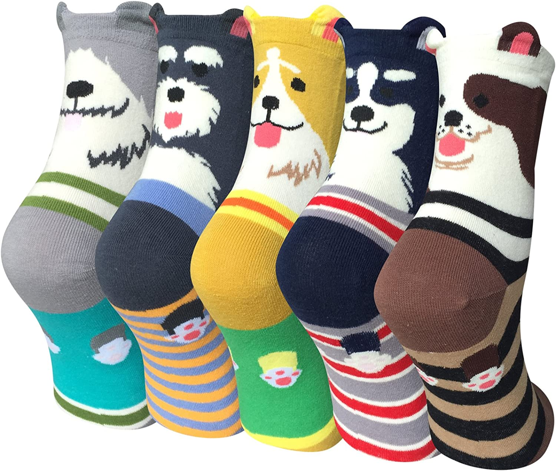 WeciBor Damen Lustige Bunte Socken Witzige Str/ümpfe Bunte Gemusterte Muster Beil/äufig Socken Verr/ückte Modische Mehrfarbig Socken