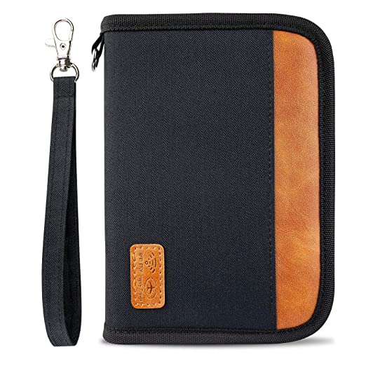 375193df7226 Travel Wallet Passport Holder RFID Blocking Document Organizer Passport  Wallet with Zipper For Women or Men