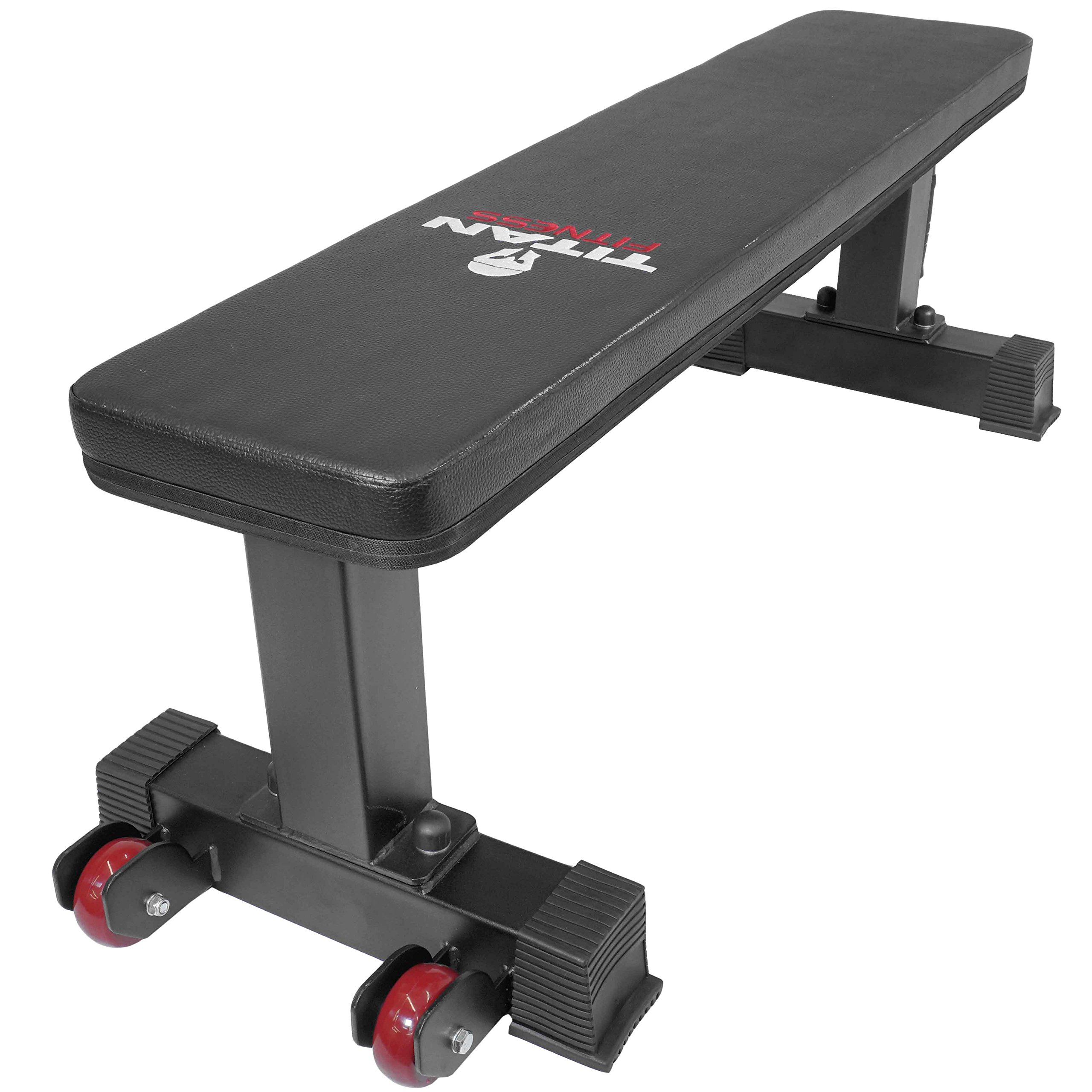 Titan Fitness Flat Weight Bench 1,000 lb Rated Capacity w/ Handle & Wheels by Titan Fitness (Image #2)