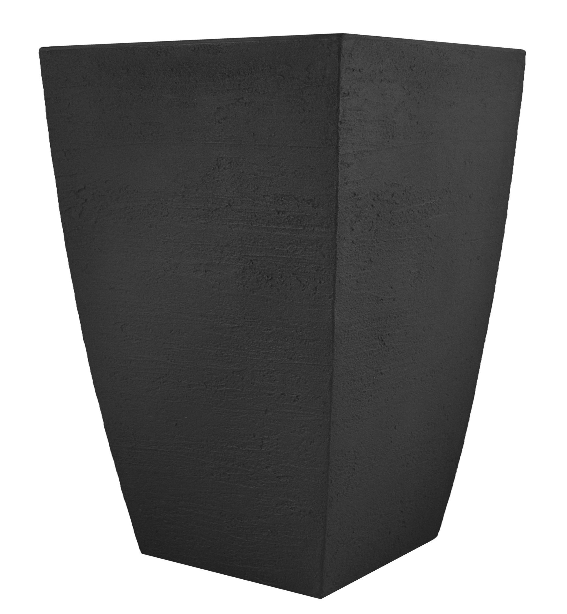 Tusco Products MSQT19BK Modern Square Garden Planter, 19-Inches Tall, Black by Tusco Products