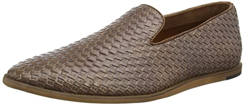 New Look Woven Slip, Mocasines para Hombre, Beige (Tan/18), 45 EU: Amazon.es: Zapatos y complementos