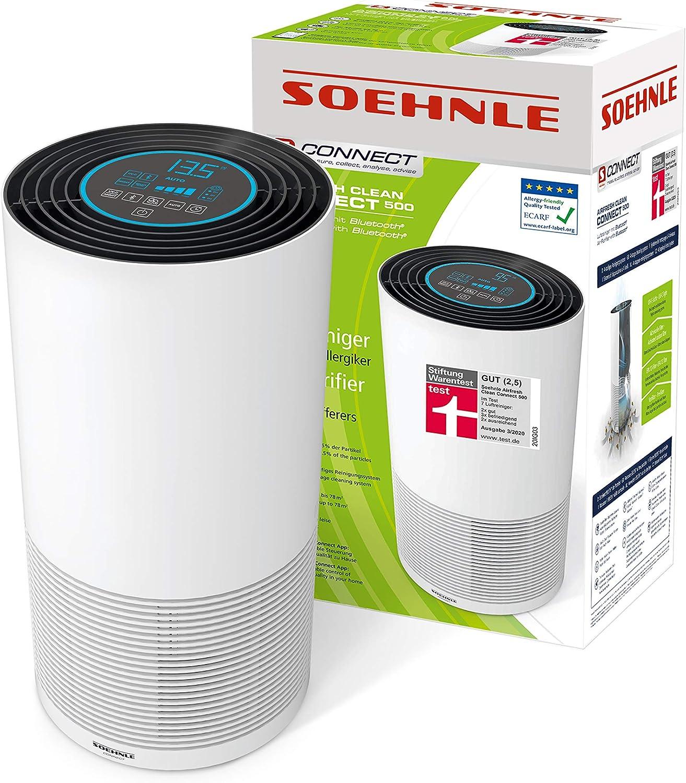 Soehnle 68098 Purificador de aire, 65 W, Negro, Blanco, Único