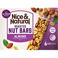 Nice & Natural Almond Roasted Nut Bars with Real Milk Chocolate, 192g