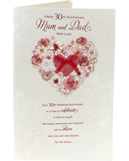 30th Wedding Anniversary Card Mum And Dad Pearl Wedding Anniversary Card Mum And Dad