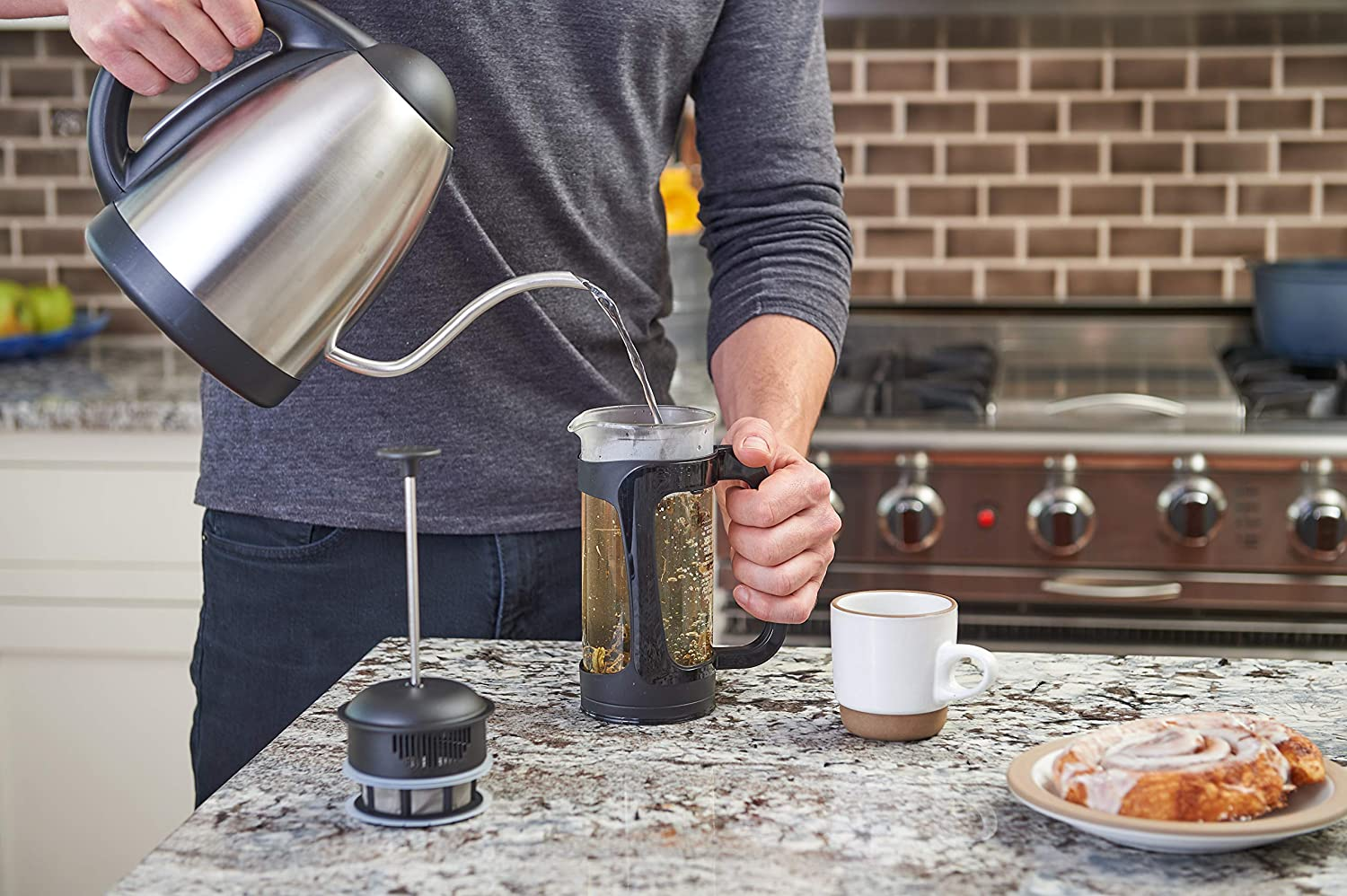 ESPRO/® French Press P3 with Tea Filter 550 ml Black