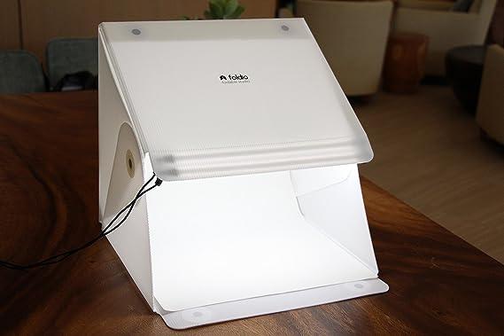 Tienda de iluminación Original FOLDIO 2, Caja de iluminación fotográfica Profesional, Caja de iluminación Plegable con Tira LED: Amazon.es: Electrónica