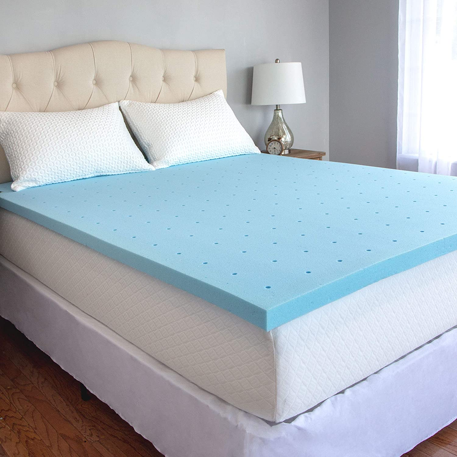 Popular brand in the world CozyHome Mattress Topper Blue OFFicial shop