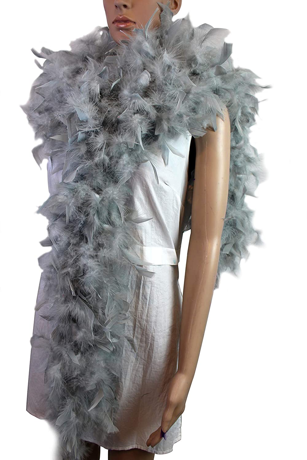 White Costume Great for Party 100 Gram 2 Yard Long Chandelle Feather Boa Over 10 Colors Wedding