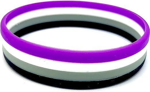 Patch Nation Asexual Gay Pride Lesbianas LBGTQ - Pulsera de silicona: Amazon.es: Ropa y accesorios