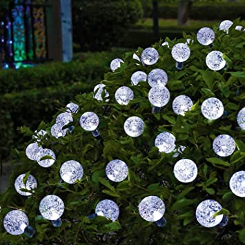 OxyLED Solar String Lights, 30 LED Garden Patio Outside Solar String Light, Waterproof Indoor