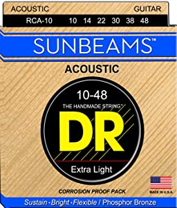 DR Strings Sunbeam - Phosphor Bronze AcousticRound Core 10-48