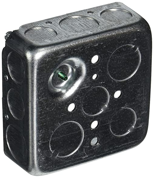 Hubbell-Raco 192SM 1-1/2-Inch Deep Square Electrical Box, Drawn ...