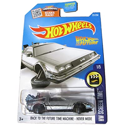 Hot Wheels 2016 Screen Time Hover Mode Back to The Future Time Machine Delorean: Toys & Games