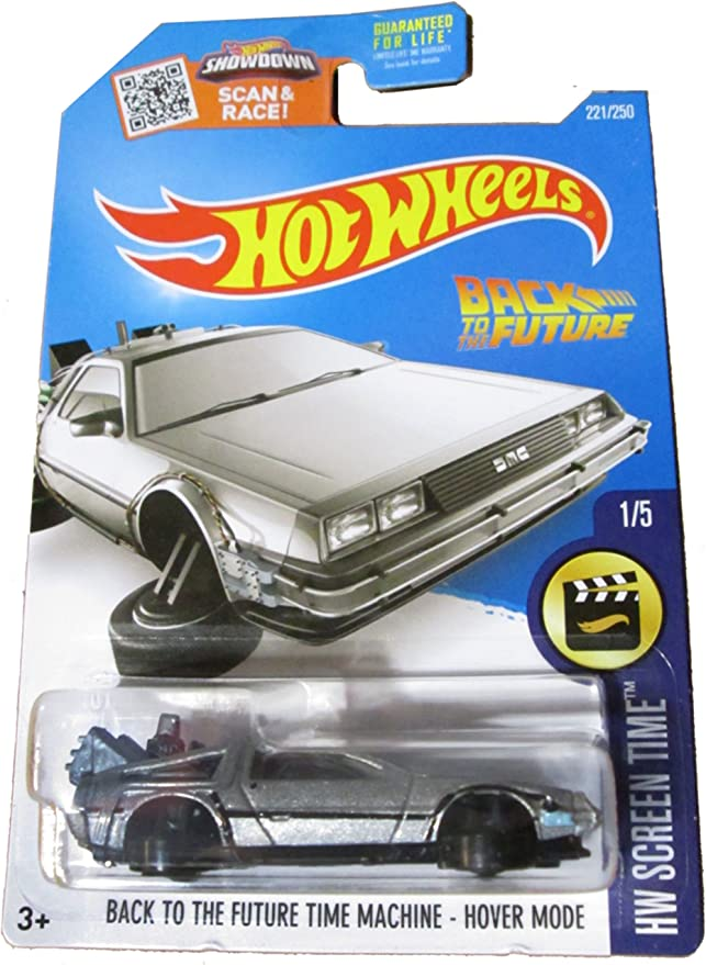 TIME MACHINE HOVER MODE Back to the Future Hot Wheels Retro Ent D6 Damaged