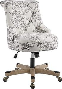 Linon Home Décor OC106FL01 Leslie Floral Office Chair