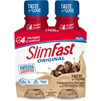 SlimFast Original - Weight Loss Meal Replacement RTD Shakes - with 10g Protein & 5g Fiber - Plus 24 Vitamins & Minerals…