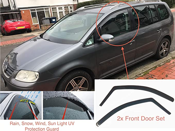 2x Windabweiser Kompatibel Mit Vw Volkswagen Sharan Ford Galaxy Seat Alhambra 1995 1996 1997 1998 1999 2000 2001 2002 2003 2004 2005 2006 2007 2008 2009 2010 Auto