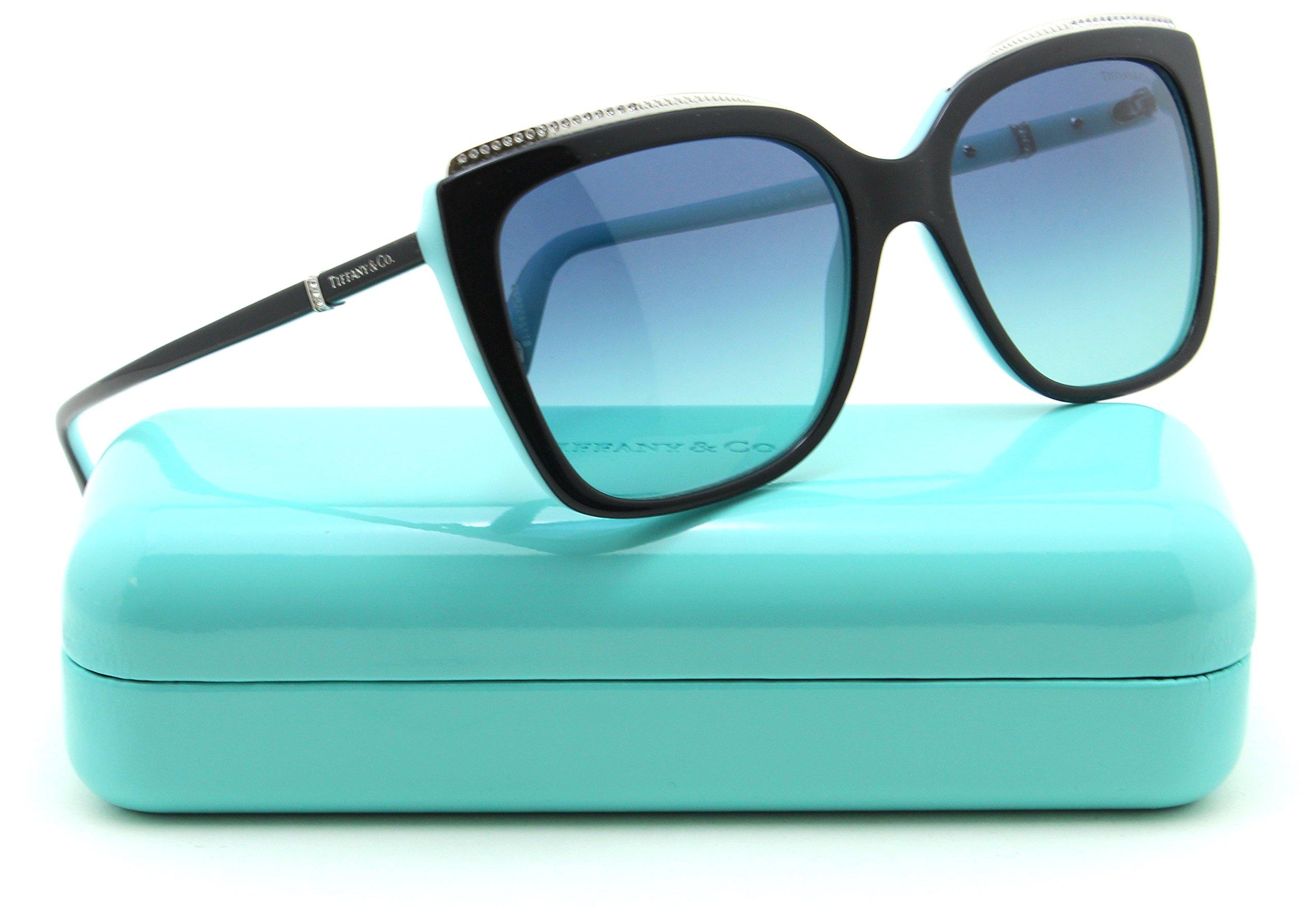 Tiffany & Co. TF 4135-B-F Women Square Asian Fit Sunglasses (Blue Gradient 80559S, 56)