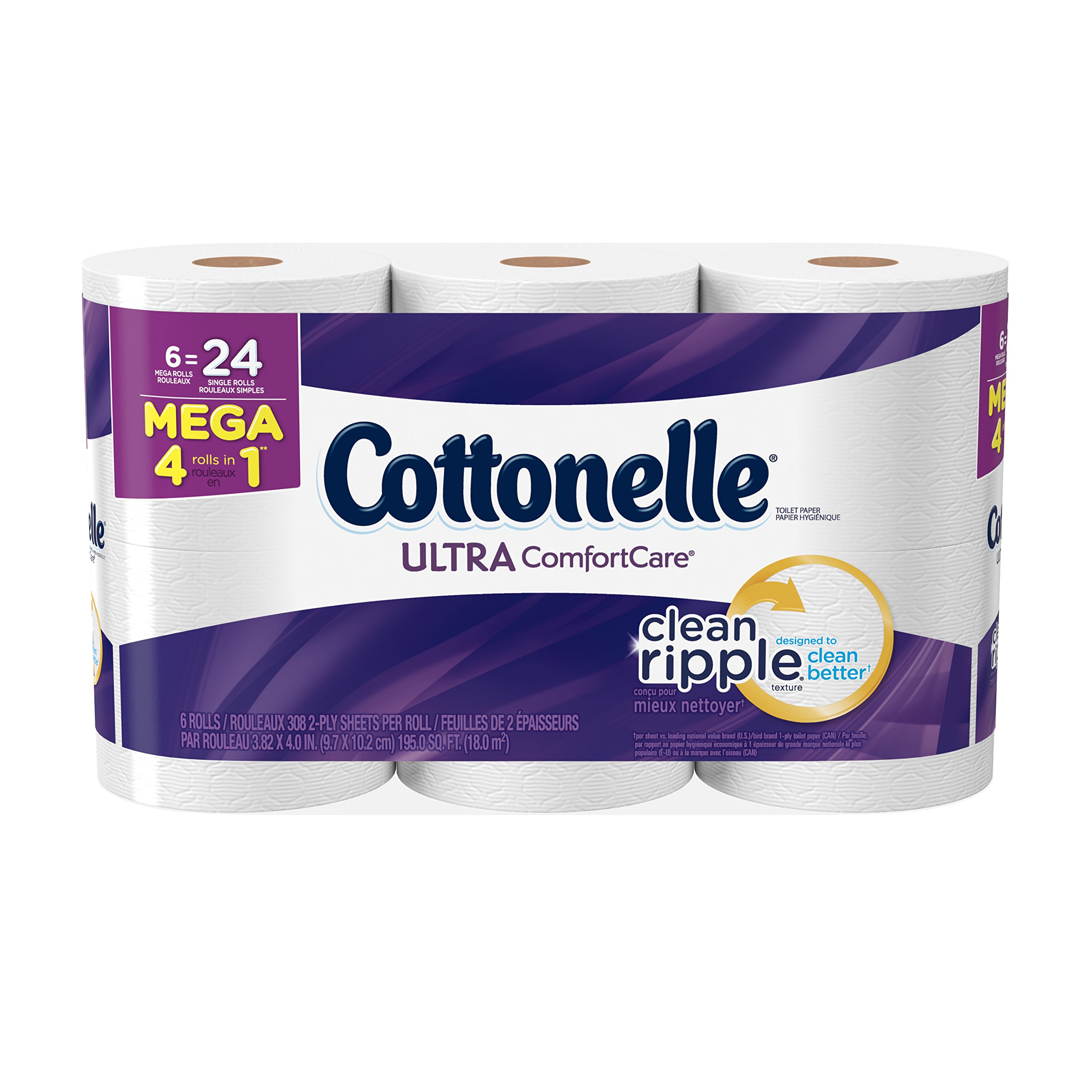 Cottonelle Ultra Comfort Care Toilet Paper, Bath Tissue, 6 Mega Toilet Paper Rolls by Cottonelle
