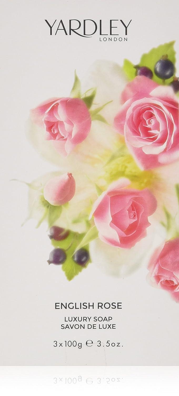 Yardley London English Rose Luxury Bar Soap Set for Women, 3 Count Y6320022-6