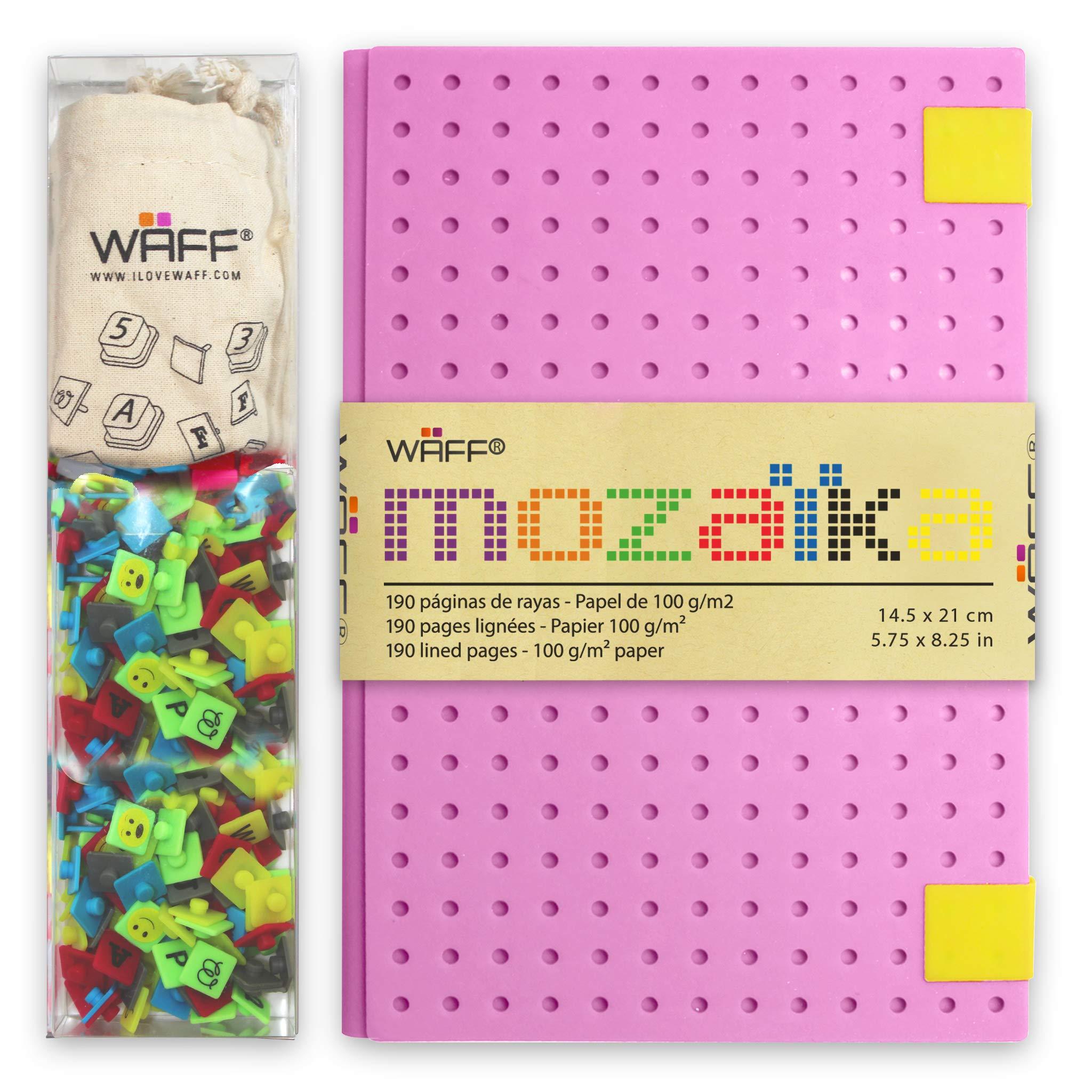 WAFF, Customizable Mozaika Notebook / Journal Combo, Large, 8.25'' x 5.5'', 240 Pegs + Bag - Lavender