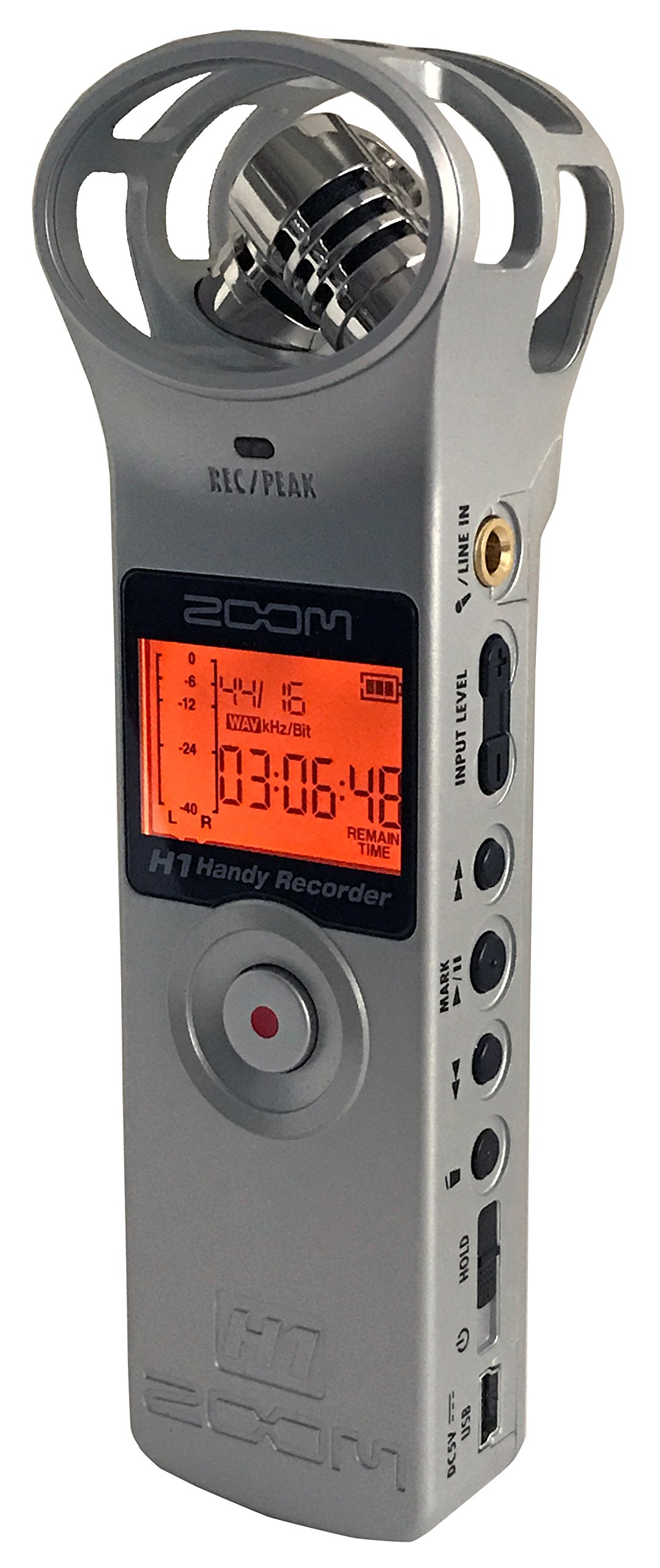 ZOOM H1 Handy Portable Digital Recorder (Silver) by Zoom