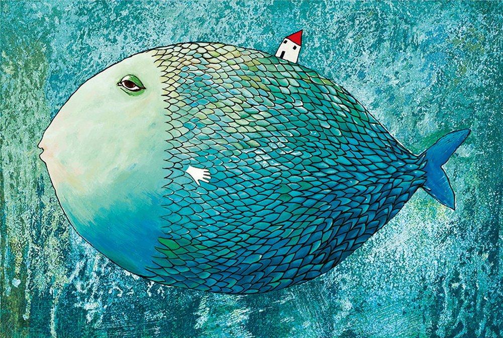 魅力の 1000ピースLindenの木Cartoonパズルおもちゃ B077RTH5B9、ブルー漫画の魚 B077RTH5B9, リサラーソンSHOP:9d6068e6 --- a0267596.xsph.ru