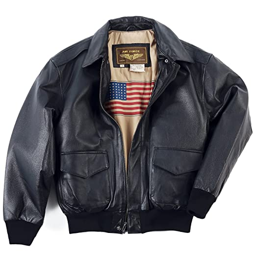6fa5a01dfb7c1 Landing Leathers Men's Air Force A-2 Leather Flight Bomber Jacket (Regular  Big & Tall)