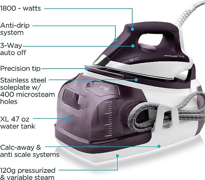 1500 Watts Rowenta Precision DM518A Steam Iron 50 g Shot of Steam Per Minute