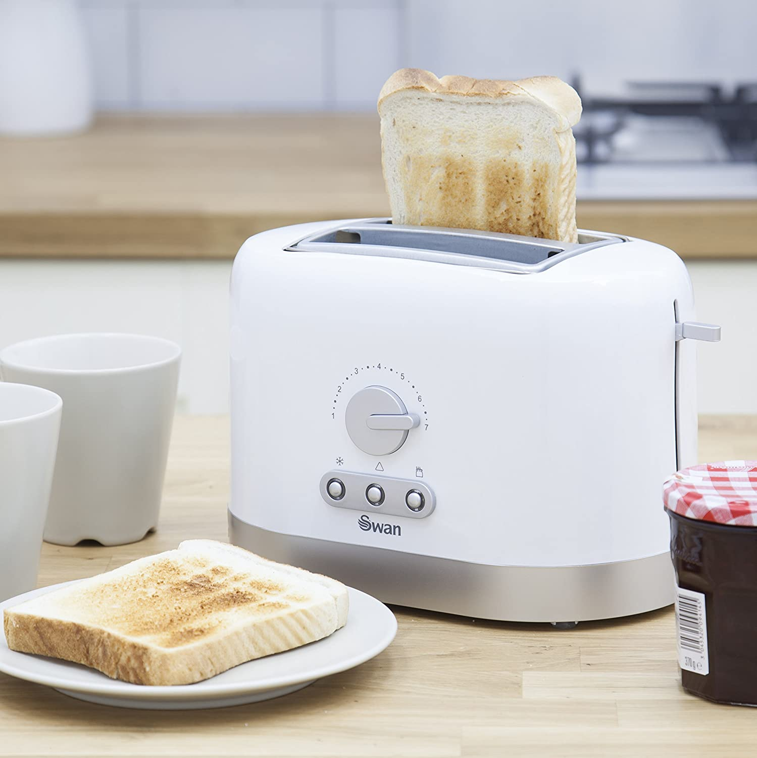 Swan 2-Slice Toaster - White