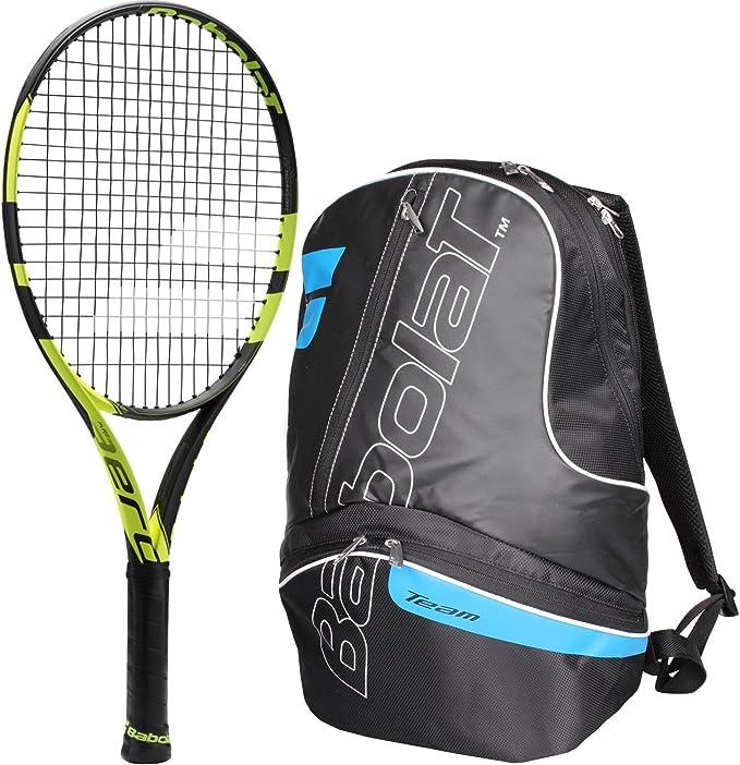 Babolat Pure Aero 25 Inch Junior Tennis Racquet (Black/Yellow ...