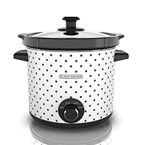 BLACK+DECKER Black & Decker SC1004D Slow Cooker, 4 Quart, Black/White 1