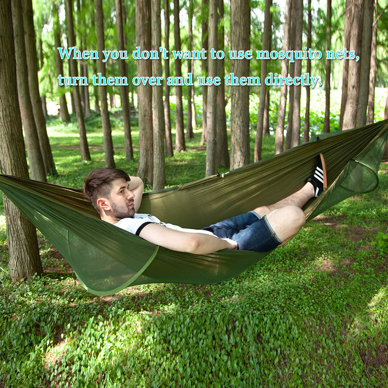 Lovebay Amaca da Campeggio Ultraleggero Amaca da Giardino Amaca da Viaggio Doppia con zanzariera 140 cm Campeggio da Viaggio allaperto 290