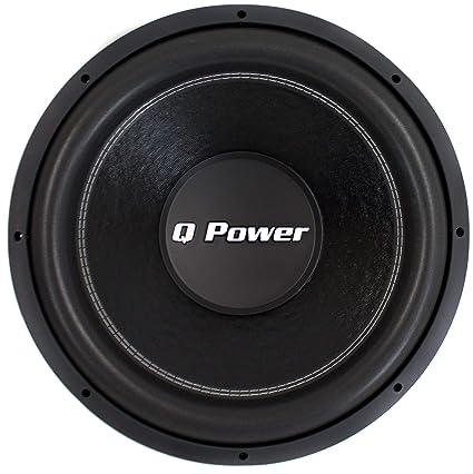 Amazon Com Q Power Qpf15 15 2200w Deluxe Series Dual Voice Coil