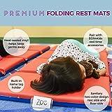 ECR4Kids Premium 4Fold Daycare Rest Mat, Blue and