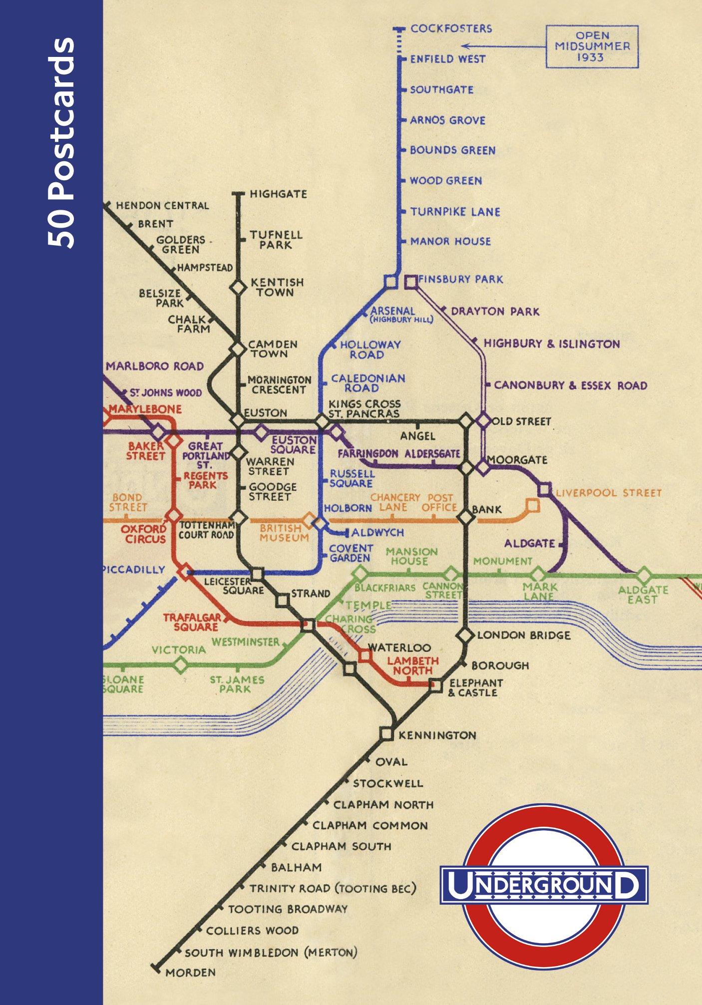 London Underground 50. Postcards