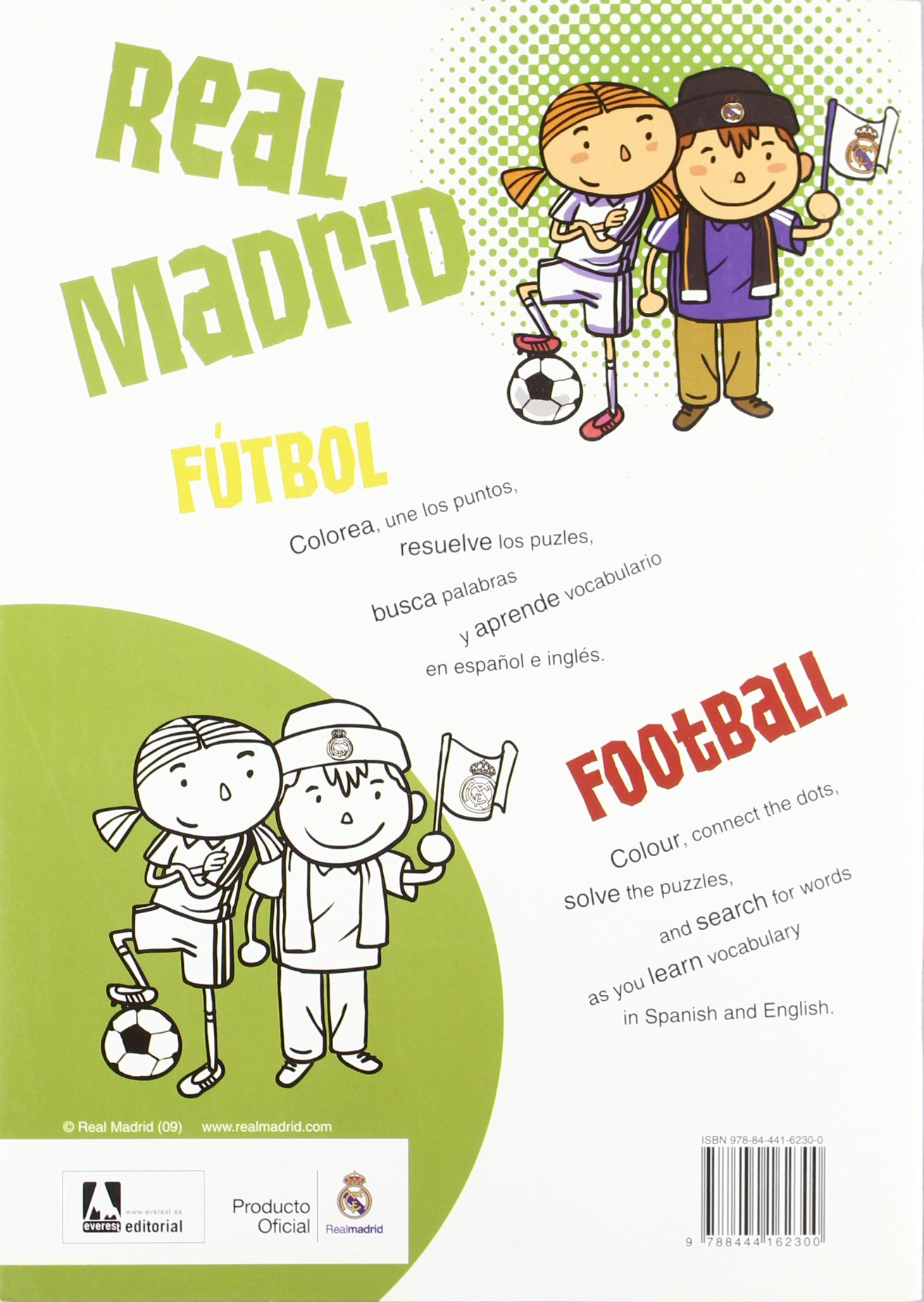Coloreo con el Real Madrid. Fútbol - Football: Libro de colorear con ...