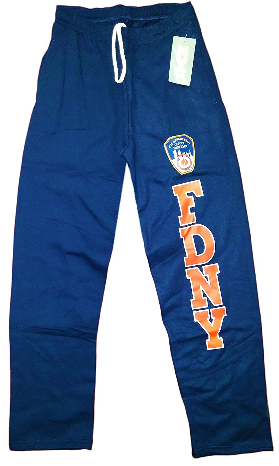 NYC FACTORY FDNY Sweatpants Official Licensed Mens Pants Navy Blue