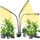 LED Plant Grow Light, VOGEK Growing Lamp Full Spectrum for Indoor Plants with Timer, Tri Head Growing Light for Seedlings wit