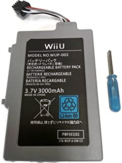 Amazon.com: Wii U GamePad 3600 mAh Replacement Rechargeable ...