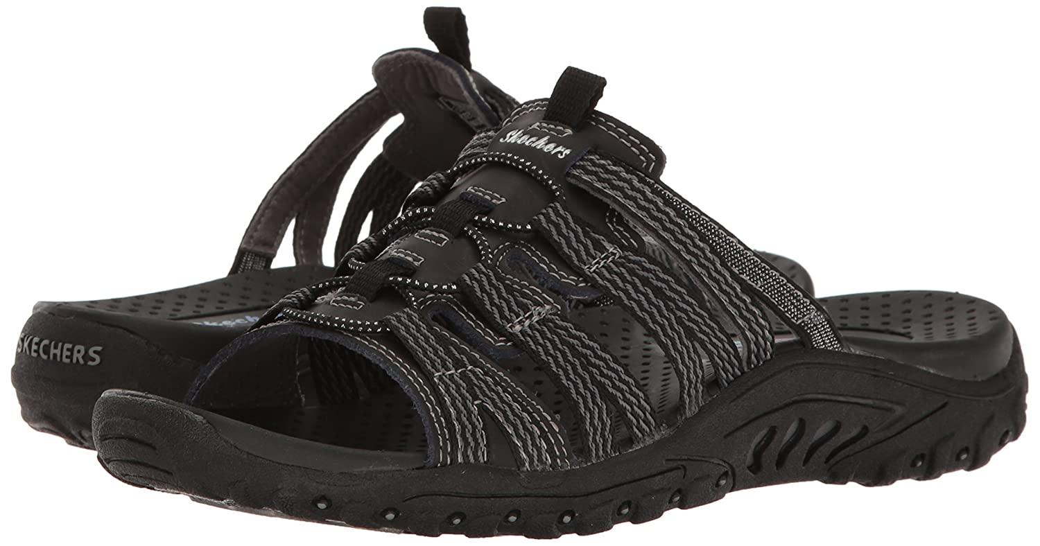 b6f9025edba5 Amazon.com  Skechers Women s Reggae-Repetition Slide Sandal  Shoes