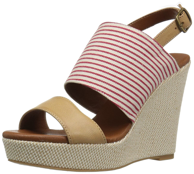 Dolce by Mojo Moxy Women's Sailor Wedge Sandal B06XJ7KTB5 7.5 B(M) US|Red