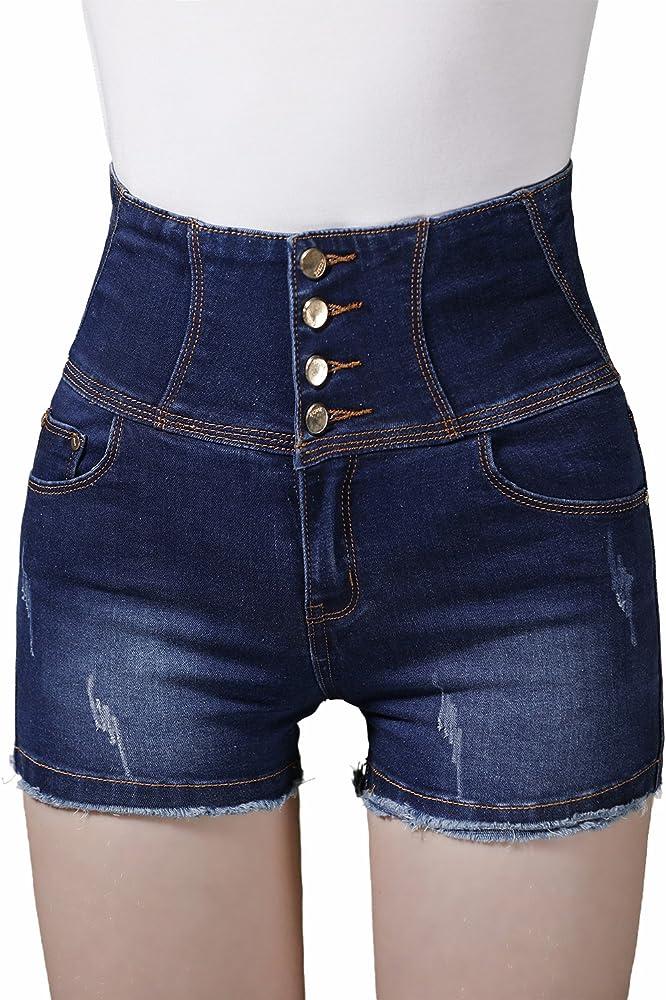 TieNew Shorts Series Mujer Pantalones Vaqueros Cortos Jeans ...